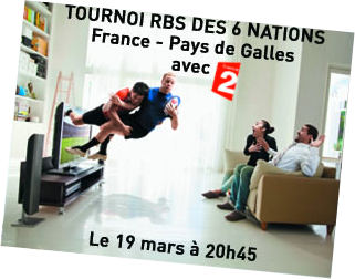 Rugby match 6 nations en 3D