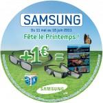 ODR Samsung Lunettes 3D + BD Imax 3D