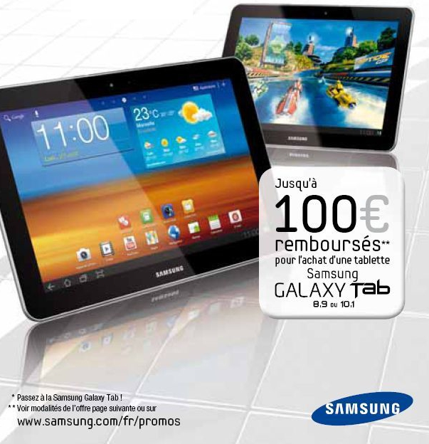 samsung galaxy tab 10 1 100 rembours s blog cobra. Black Bedroom Furniture Sets. Home Design Ideas