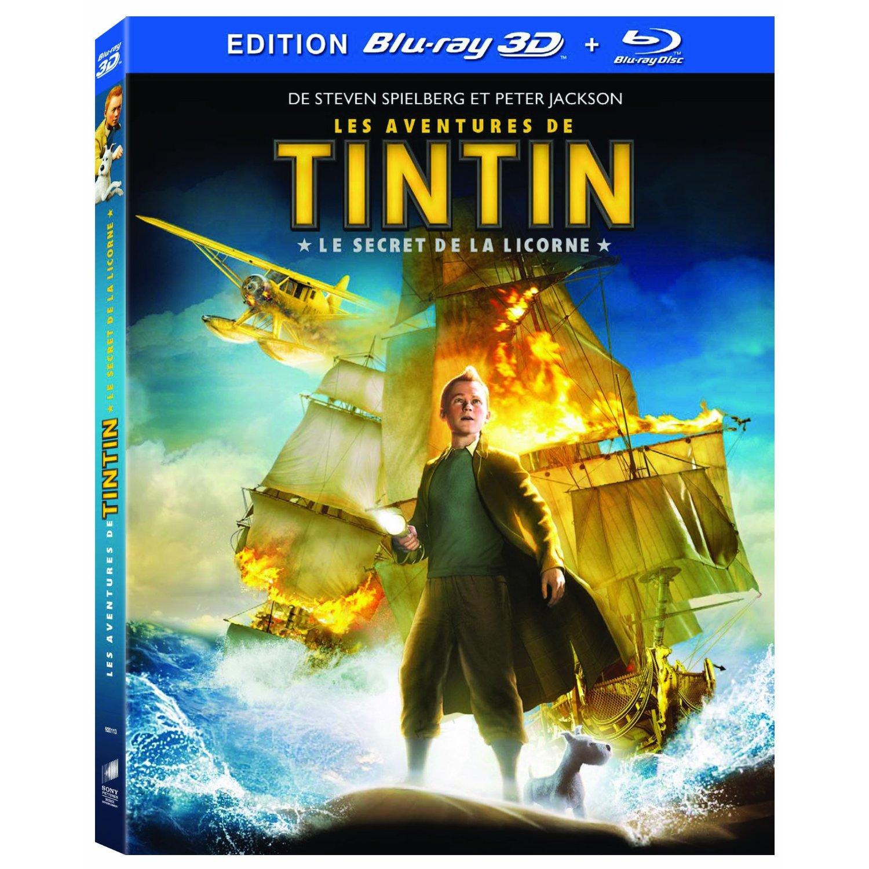 Blu-ray disc 3D Tintin