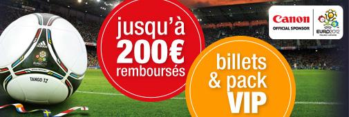 Canon UEFA Euro offre de remboursement