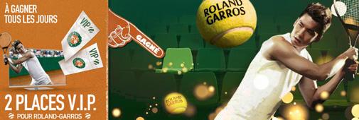 Places VIP pour Roland Garros