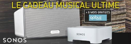 Sonos Play:3 + Bridge + 6 mois Qobuz