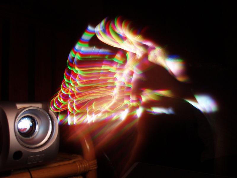 effet arc en ciel videoprojecteur