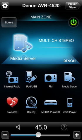 Appli Denon Remote pour iOS/Android