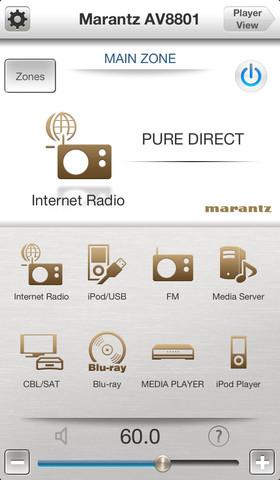 Appli Marantz Remote pour iOS/Android