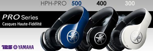 Yamaha gamme HPH-PRO