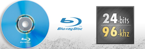 Pistes audio Blu-ray en 24Bits/96kHz et plus...