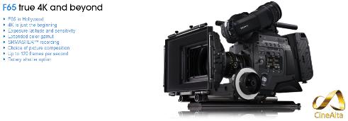 Sony F65 : 4k, 120 fps !