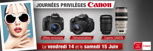 Journées privilèges CANON