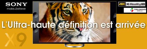 Sony X9 4K TV (KD-55X9000 et KD-65X9000)