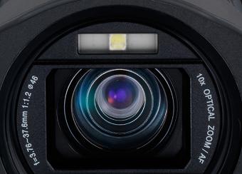 JVC Procision GC-PX100 - Objectif avec Zoom optique x10