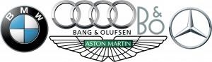 B&O Aston-Martin Audi BMW Mercedes