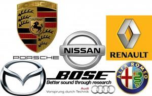 Bose Alfa Audi Mazda Nissan Porsche Renault