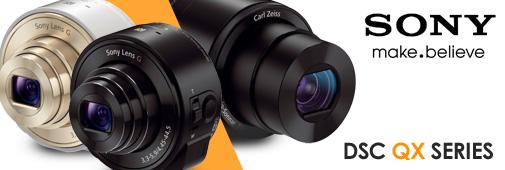 Sony QX10 et QX100 : objectifs sans-fil pour smartphones
