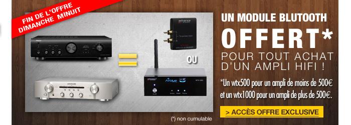 Un WTX-500 ou WTX-1000 offert pour l'achat d'un ampli Hi-Fi