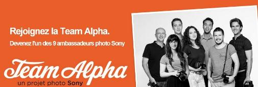 Concours photo Sony : rejoignez la Team Alpha