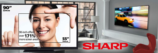 Le plus grand écran LED, le Sharp LC90LE757, est démo exclusive dans notre magasin de Boulogne