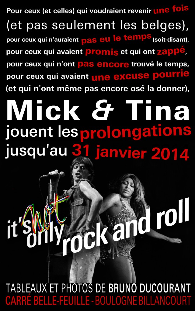 Prolongation de l'exposition It's Not Only Rock and Roll par Bruno Ducourant