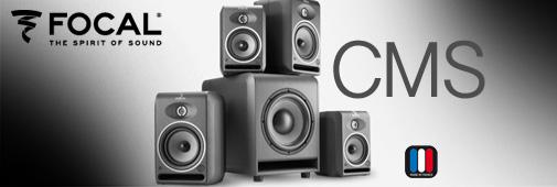 focal cms : une gamme d'enceintes amplifiées de haut rang