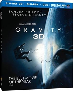 La pochette du Blu-ray 3D de Gravity