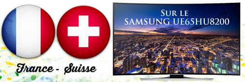 France suisse sur le samsung ue65hu8200