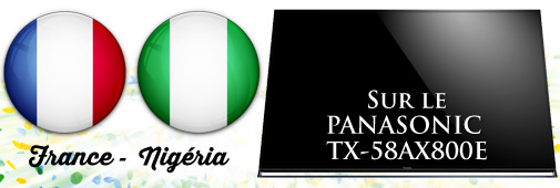 France Nigeria sur le Panasonic TX-58AX800E