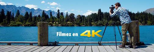 Sony FDR-AX100E Filmez en 4K
