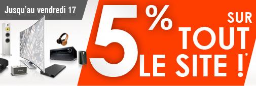 Code promo : 5% de remise avec le coupon 5WEB