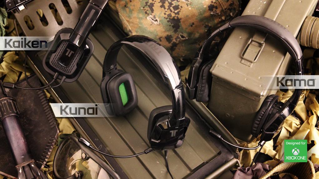 Gamme des casques gaming Tritton Xbox One : Kunai - Kaiken - Kama