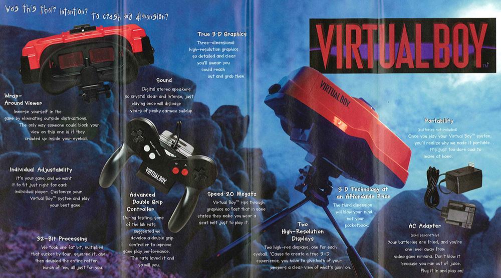 Publicité pour la Console de jeu vidéo Nintendo Virtualboy