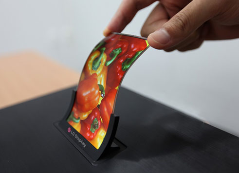 Ecran flexible LG OLED