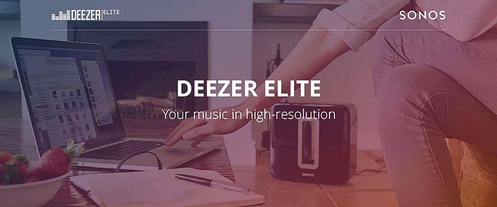 Service Sonos Deezer elite