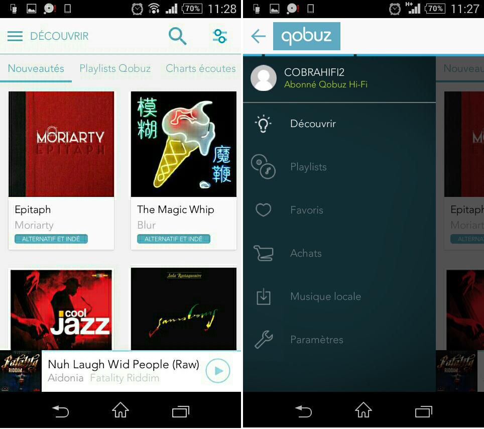 Abonnement Qobuz Hi-Fi de Cobrason