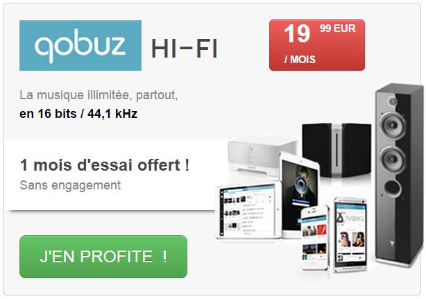 Qobuz : essai gratuit 1 mois offert