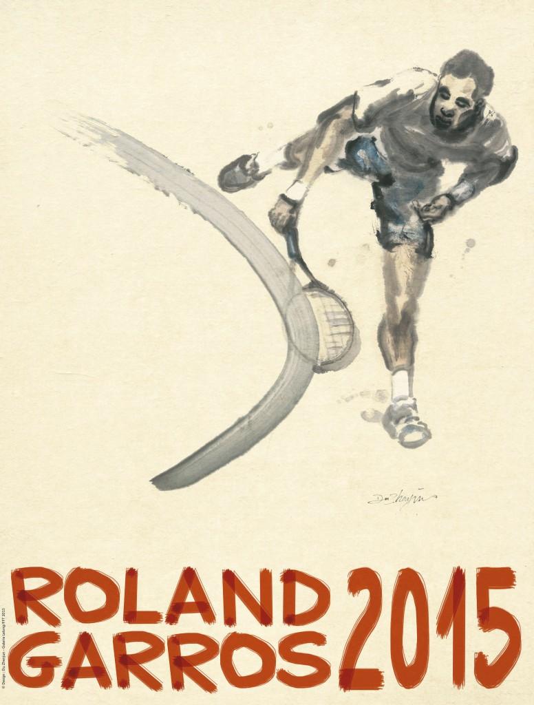 Affiche officielle de l'édition 2015 du tournoi de Roland Garros 2015