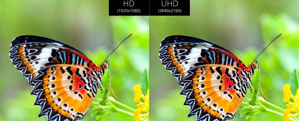 1080p vs 2160p / Ultra HD vs Full HD