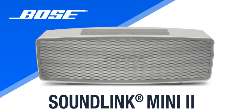 Bose SoundLink Mini II, ici en version blanche