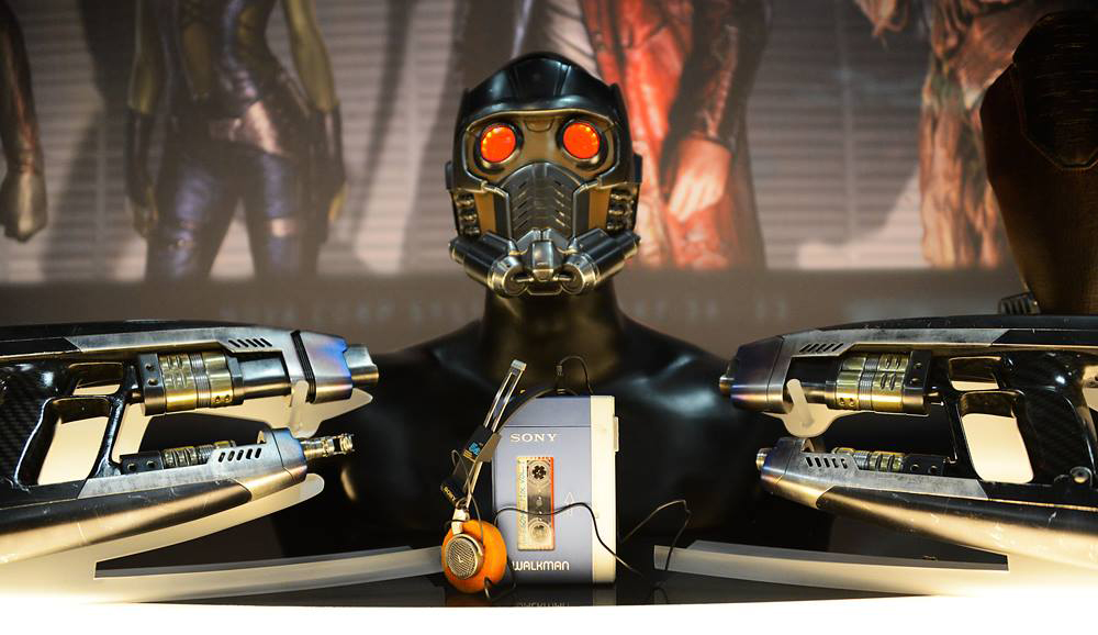 "Équipement de Star-Lord du films Marvel ""Guardians Of The Galaxy"" avec le Sony TPS-L2 Walkman"