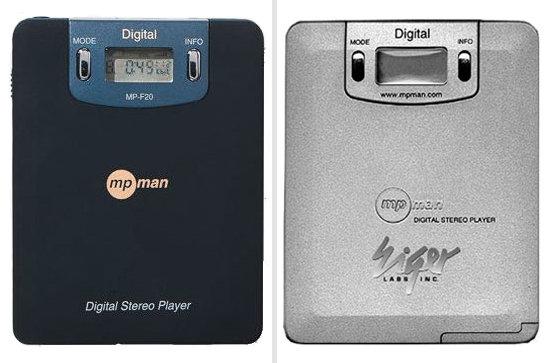 Premiers lecteur MP3 - MPMan MP-F10 et MP-F20 Eiger Labs