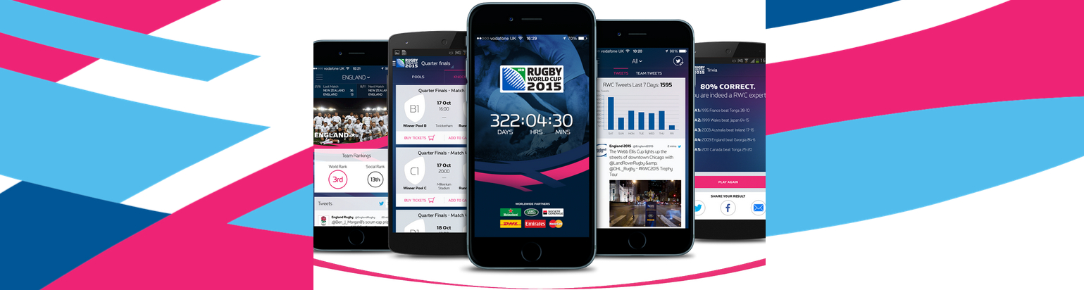 Application iOS / Android RWC 2015