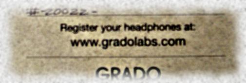Tous les casques Grado sont numérotés !