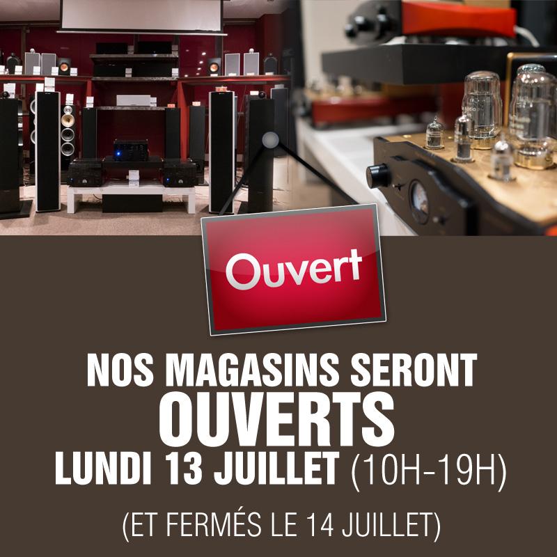 Lundi 13 juillet : magasins de Boulogne et Paris ouverts