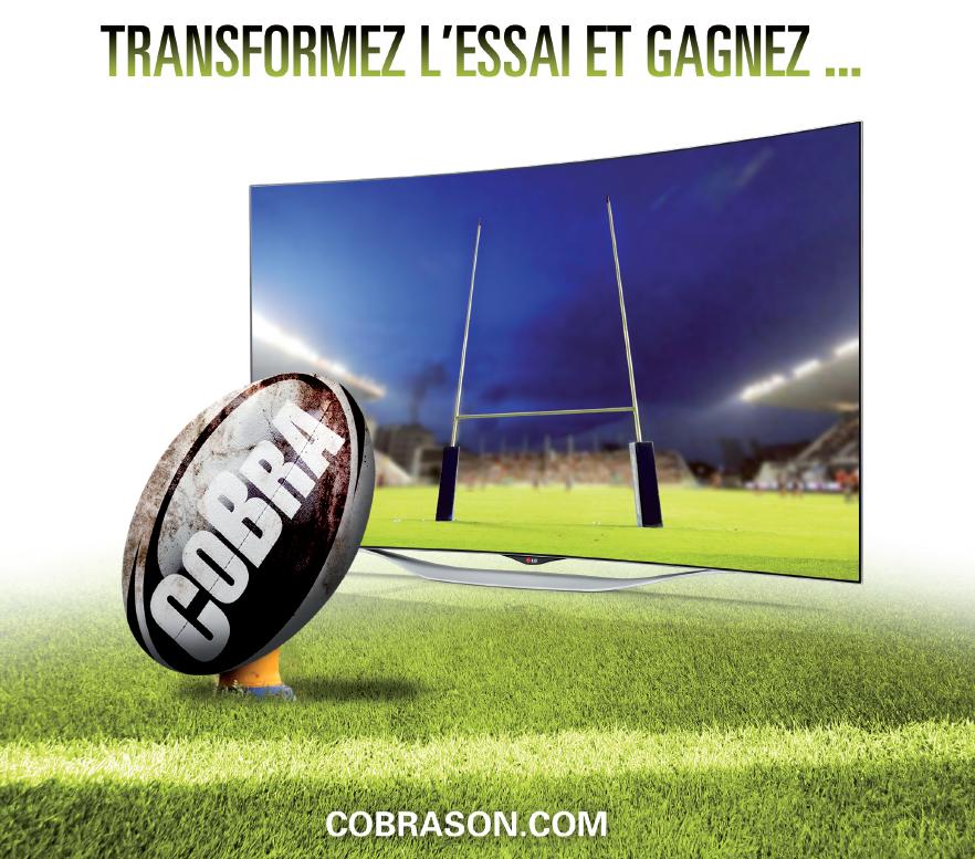 Cobra fête le rugby - Transformez l'essai