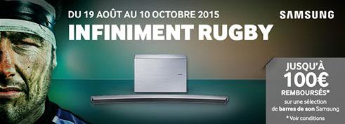 ODR Infiniment Rugby Barre de son Samsung