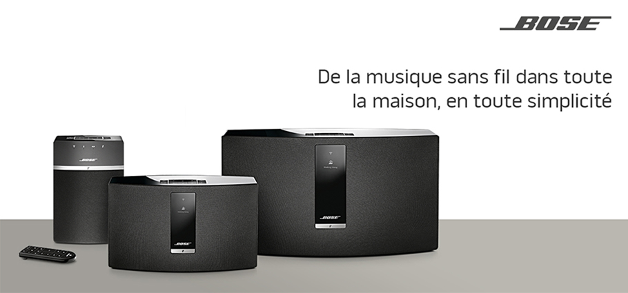 les enceintes sans fil multiroom bose soundtouch 10 20. Black Bedroom Furniture Sets. Home Design Ideas