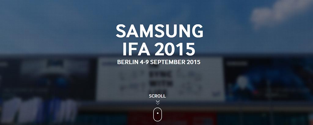 Samsung à l'IFA 2015 de Berlin