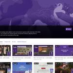 Page de Profil d'un compte Twitch