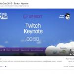 Page de Visionnage de Contenu Streaming ou de Vidéos - Twitch