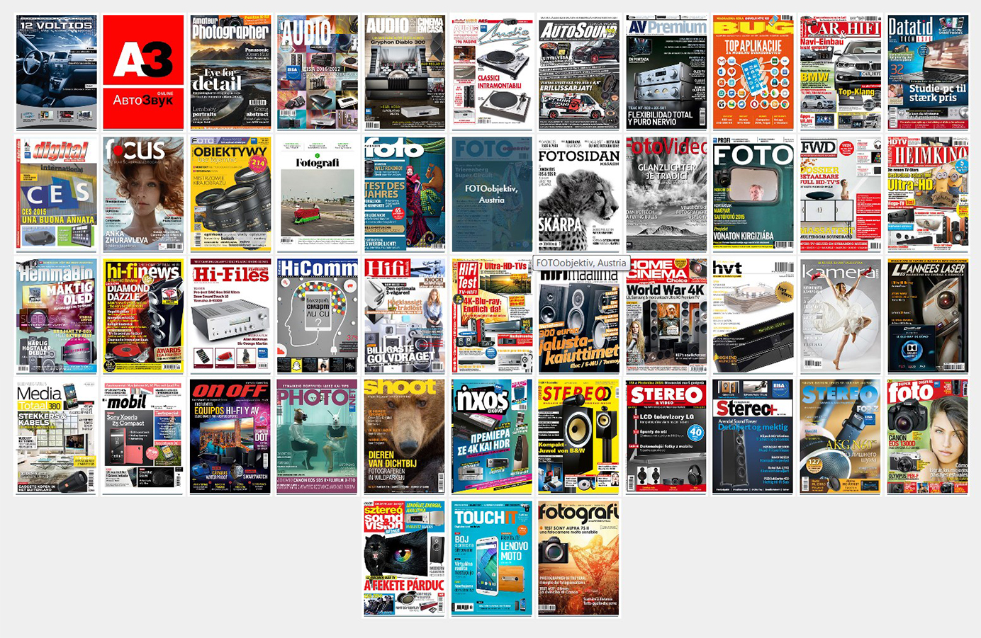 EISA 2016 - 2017 - Magazines Membres (sources : EISA)